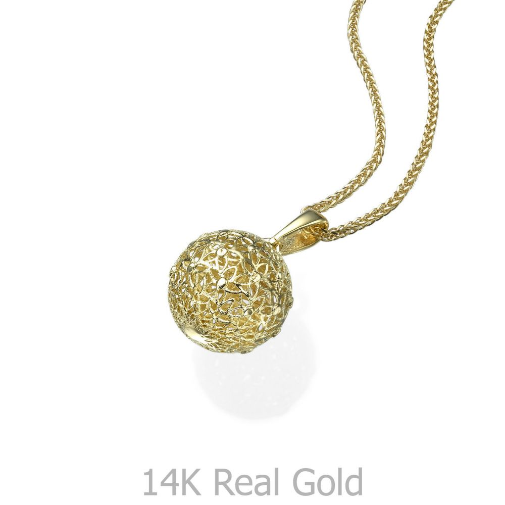Gold Pendant - Golden Globe. youme offers a range of 14K gold ...