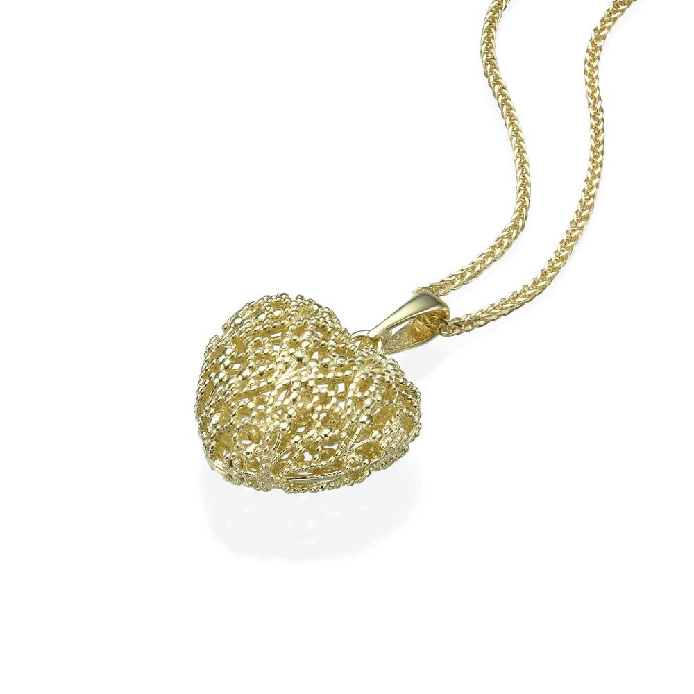 Gold Pendant Delicate Heart youme offers a range of 14K gold