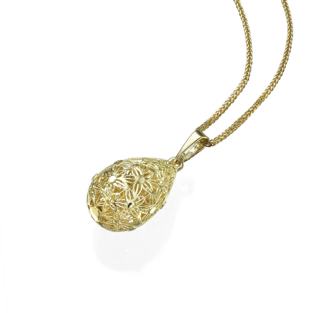 Gold Pendant - Golden Drop. youme offers a range of 14K gold ...