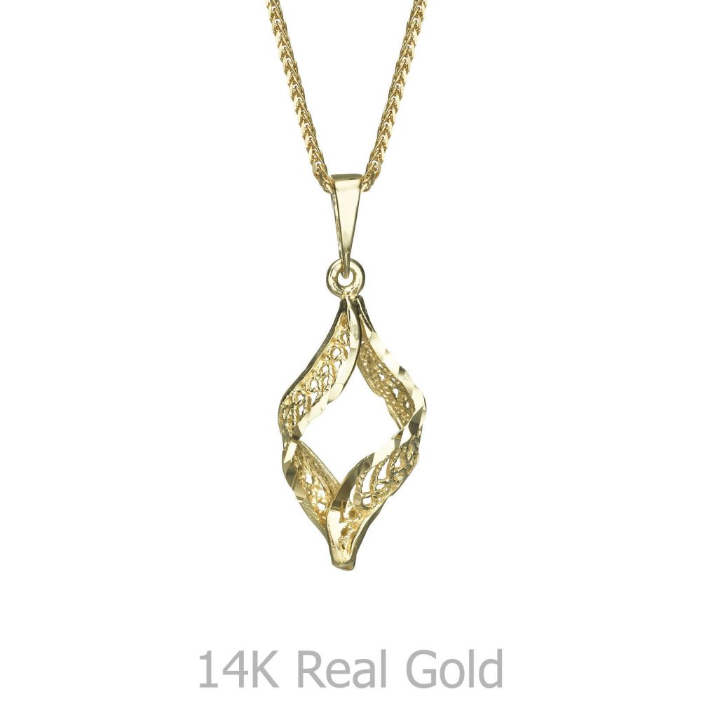 Gold Pendant Golden Twist youme offers a range of 14K gold