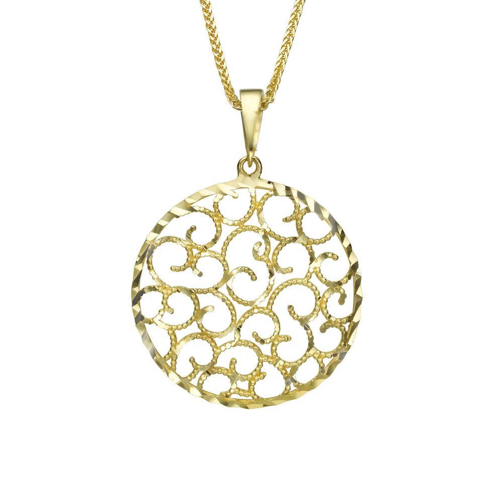 Women's Gold Jewelry | Gold Pendant - Twirls of Gold