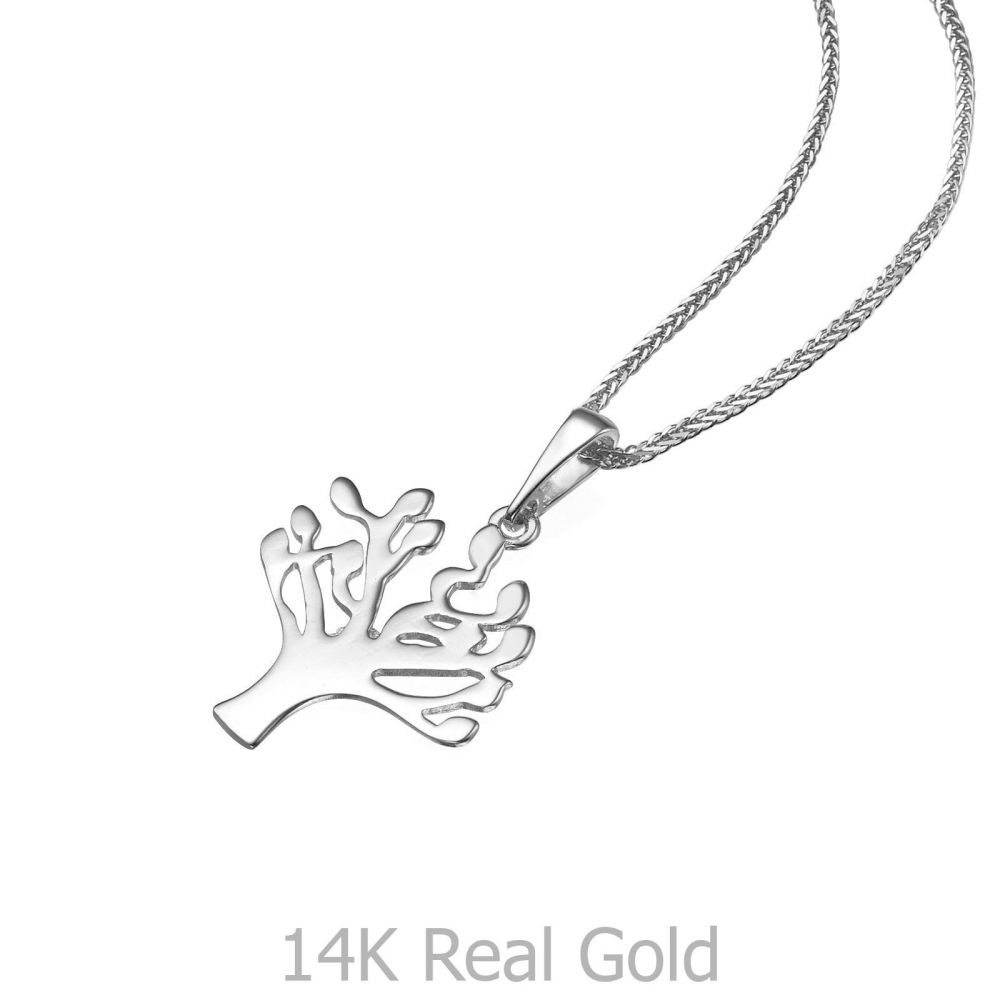 White Gold Pendant Tree of Life youme offers a range of 14K gold