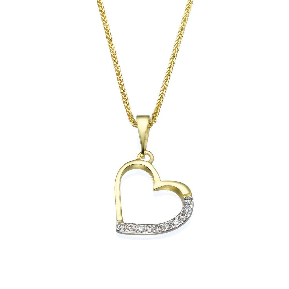 Women's Gold Jewelry | Gold Pendant - Glittering Heart