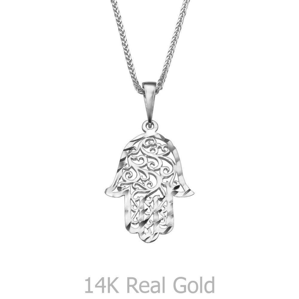 White gold pendant filigree hamsa hand youme offers a range of womens gold jewelry white gold pendant filigree hamsa hand aloadofball Choice Image