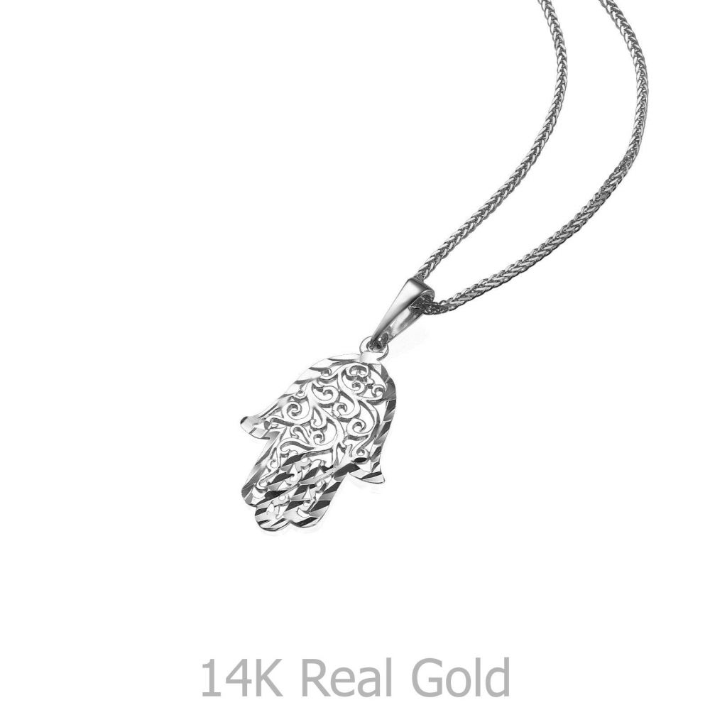White gold pendant filigree hamsa hand youme offers a range of womens gold jewelry white gold pendant filigree hamsa hand 14k mozeypictures