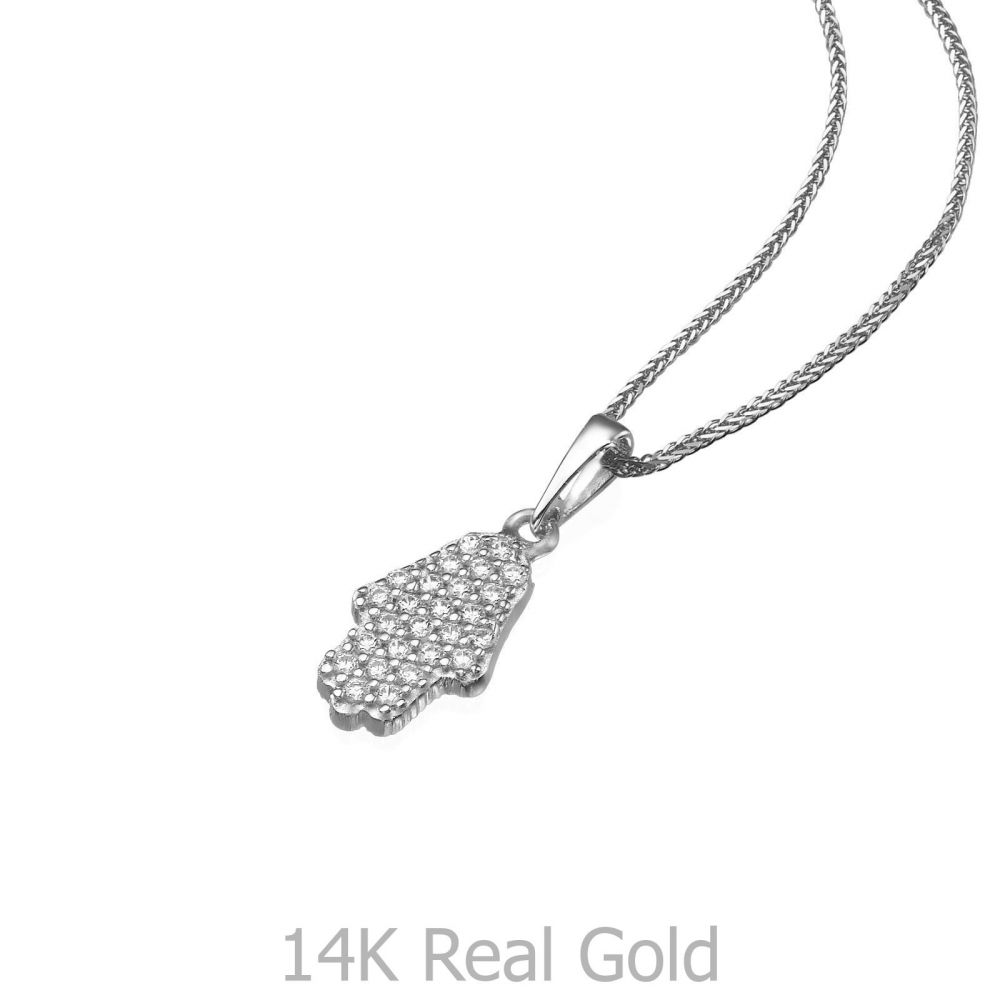 White gold pendant sparkling hamsa youme offers a range of 14k womens gold jewelry white gold pendant sparkling hamsa aloadofball Choice Image
