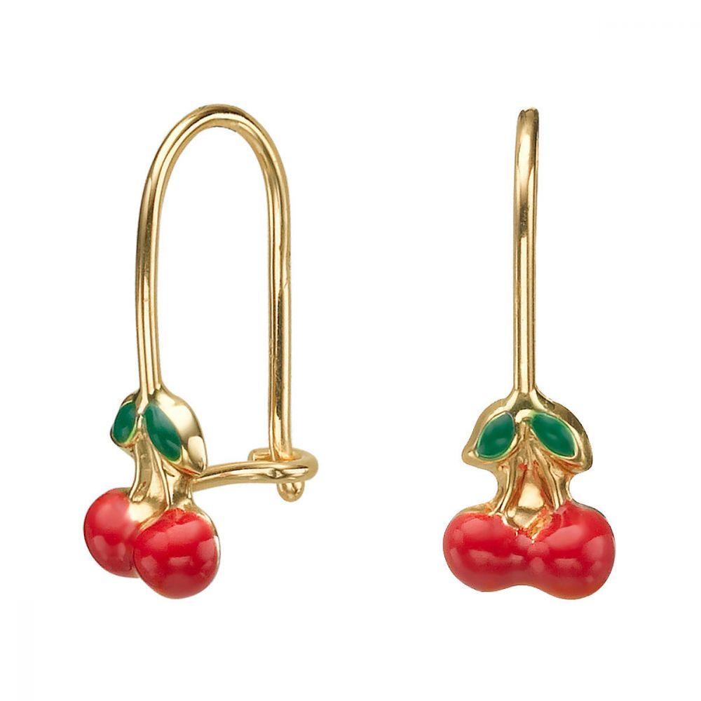 Girl's Jewelry   Earrings - Cherry Drop