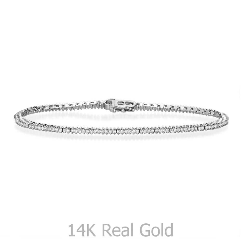 Diamond Jewelry | Diamond Tennis Bracelet White Gold - Elizabeth