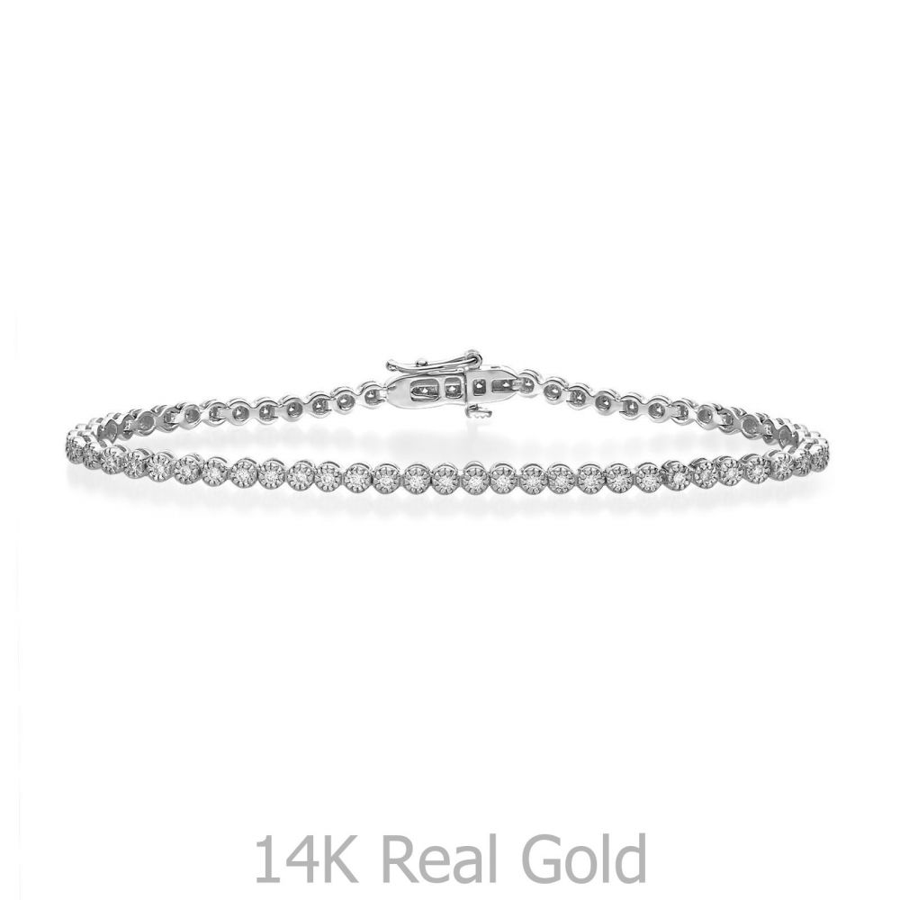 Diamond Jewelry | Diamond Tennis Bracelet White Gold – Charlotte