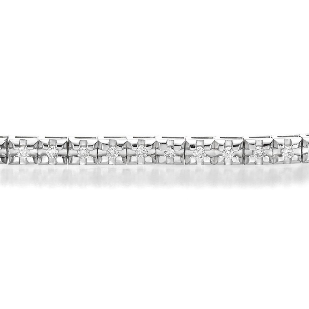 Diamond Jewelry | Diamond Tennis Bracelet White Gold – Kate