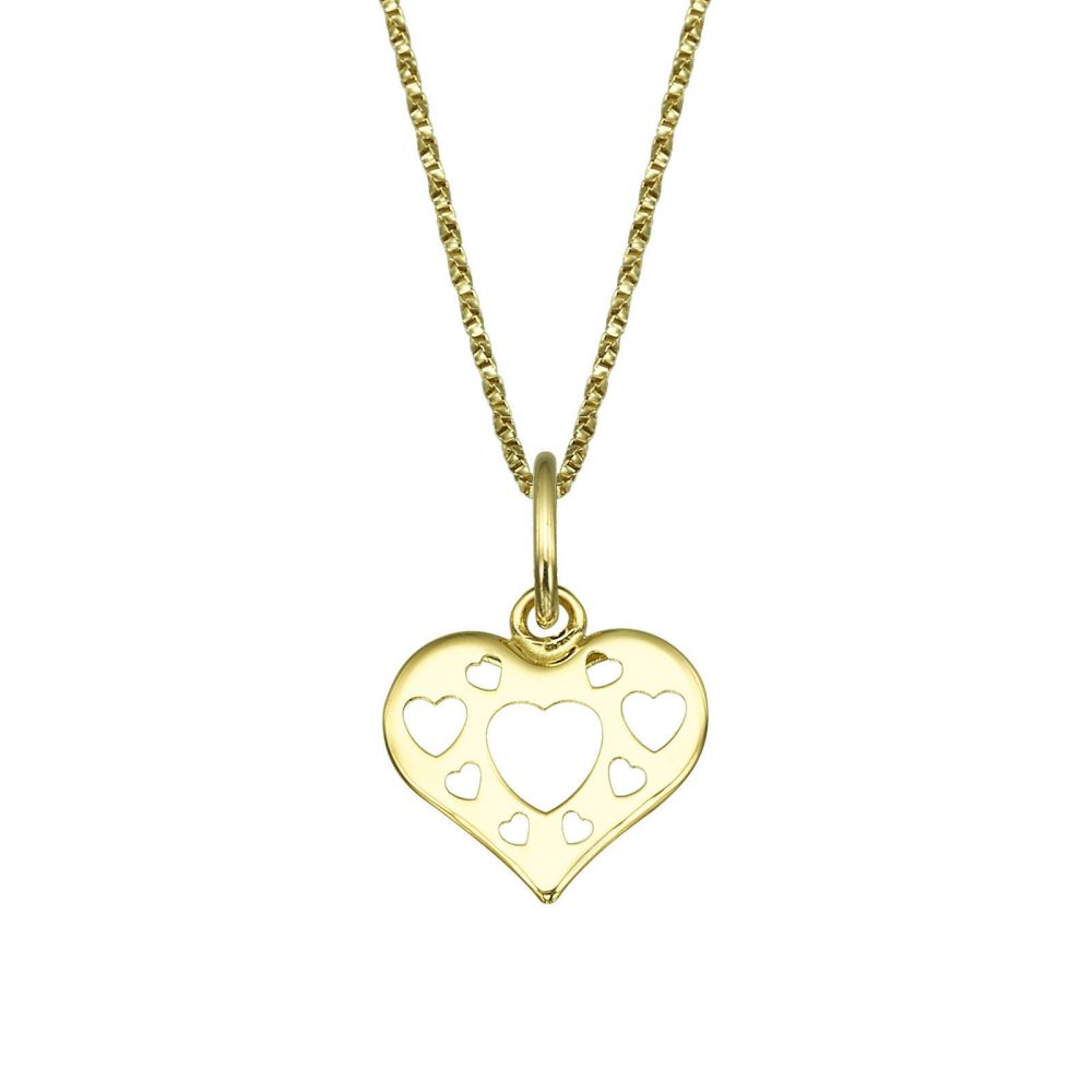 Pendant and necklace in yellow gold heart of love youme offers a girls jewelry pendant and necklace in yellow gold heart of love aloadofball Image collections
