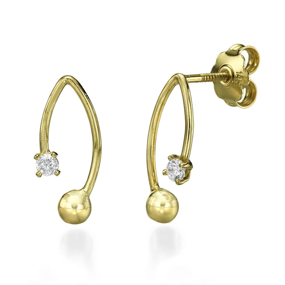 Stud Earring in Yellow Gold San Francisco youme offers a range of