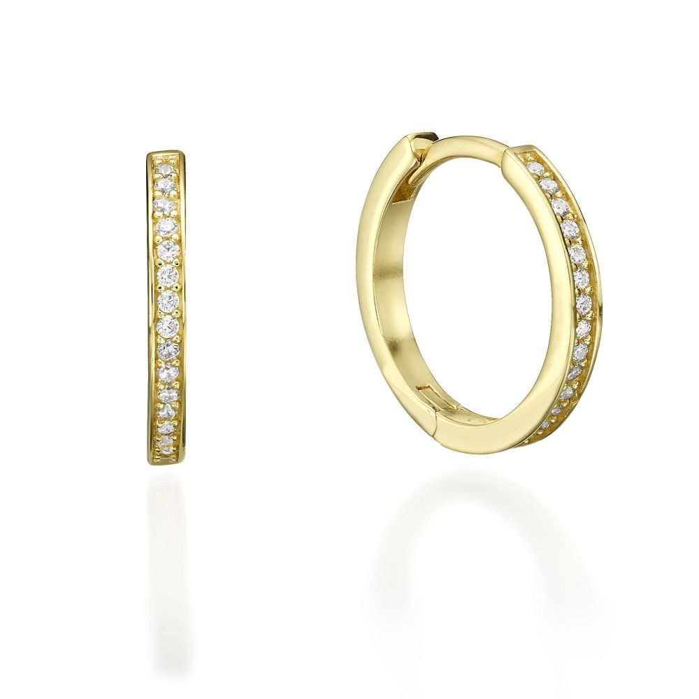 Women S Gold Jewelry Yellow Hoop Earrings Ivanka