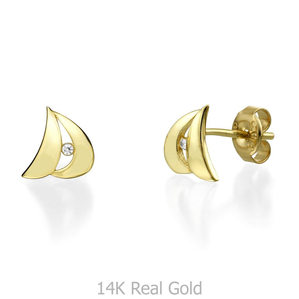 pyrrha gold a earrings studs stud letter products