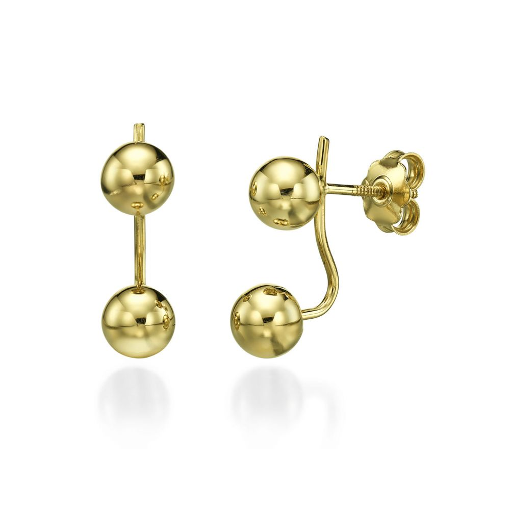 Stud Earring in Yellow Gold - Tika. youme offers a range of 14K ...
