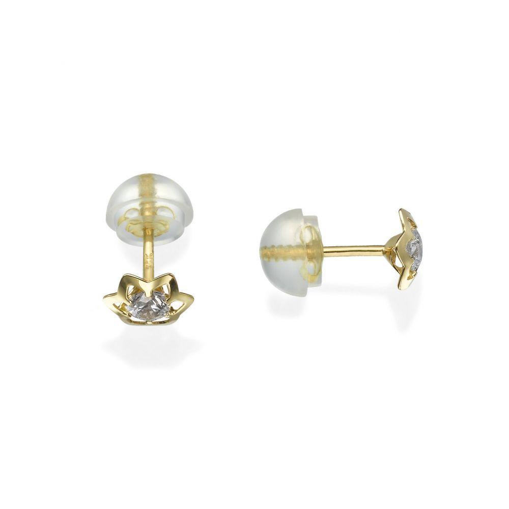 Girl's Jewelry | Gold Stud Earrings -  Prestigious Star