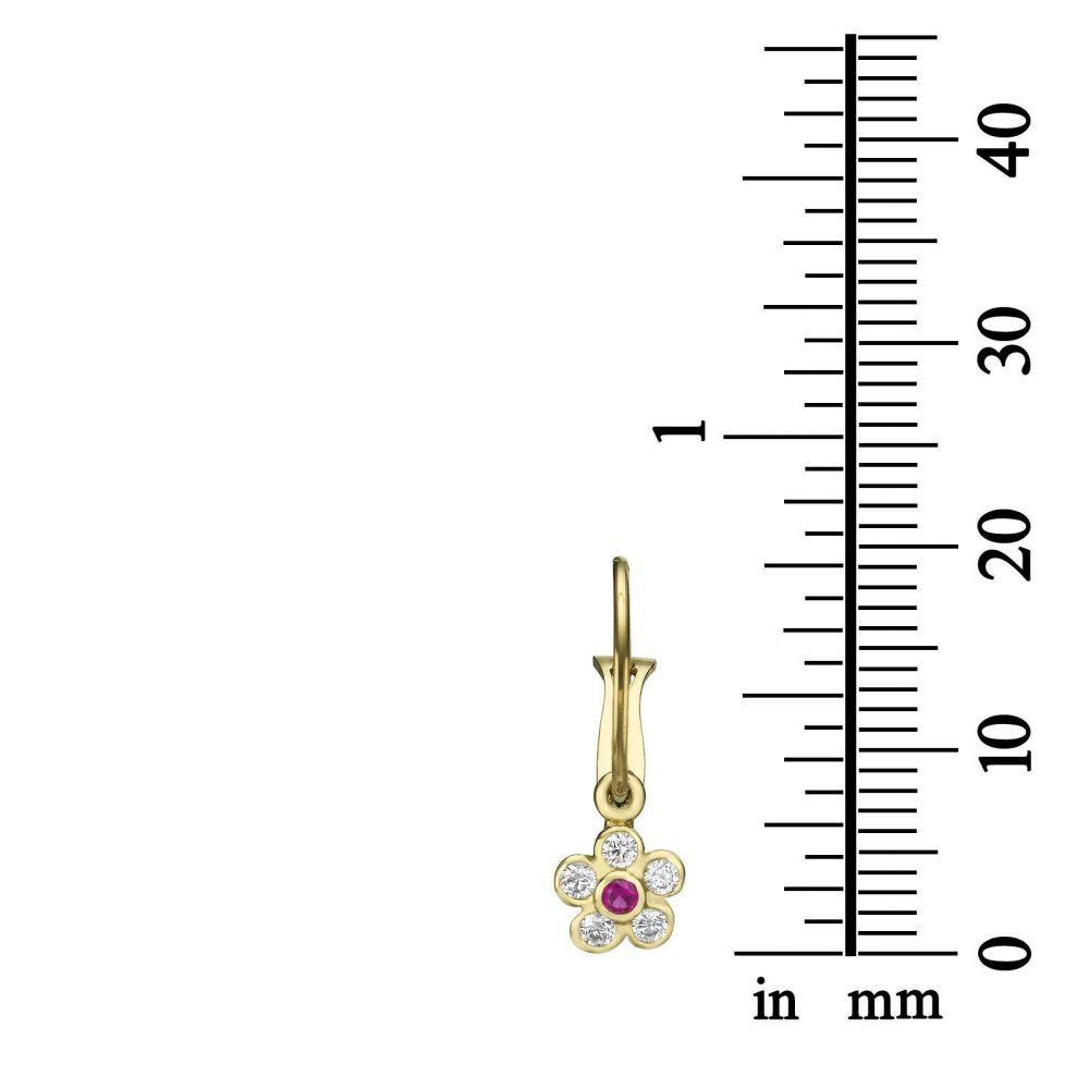 Gold Earrings | Earrings - Daisy Flower