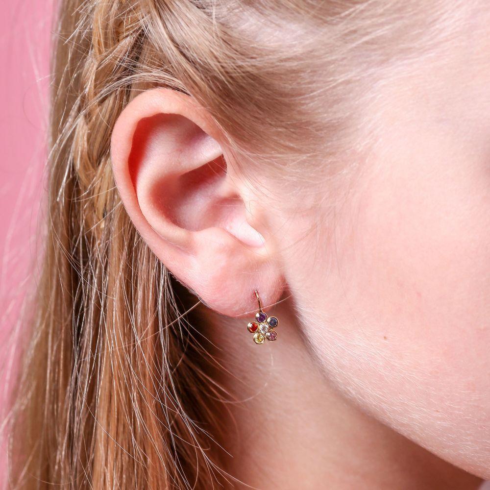 Gold Earrings | Earrings - Michaella Flower