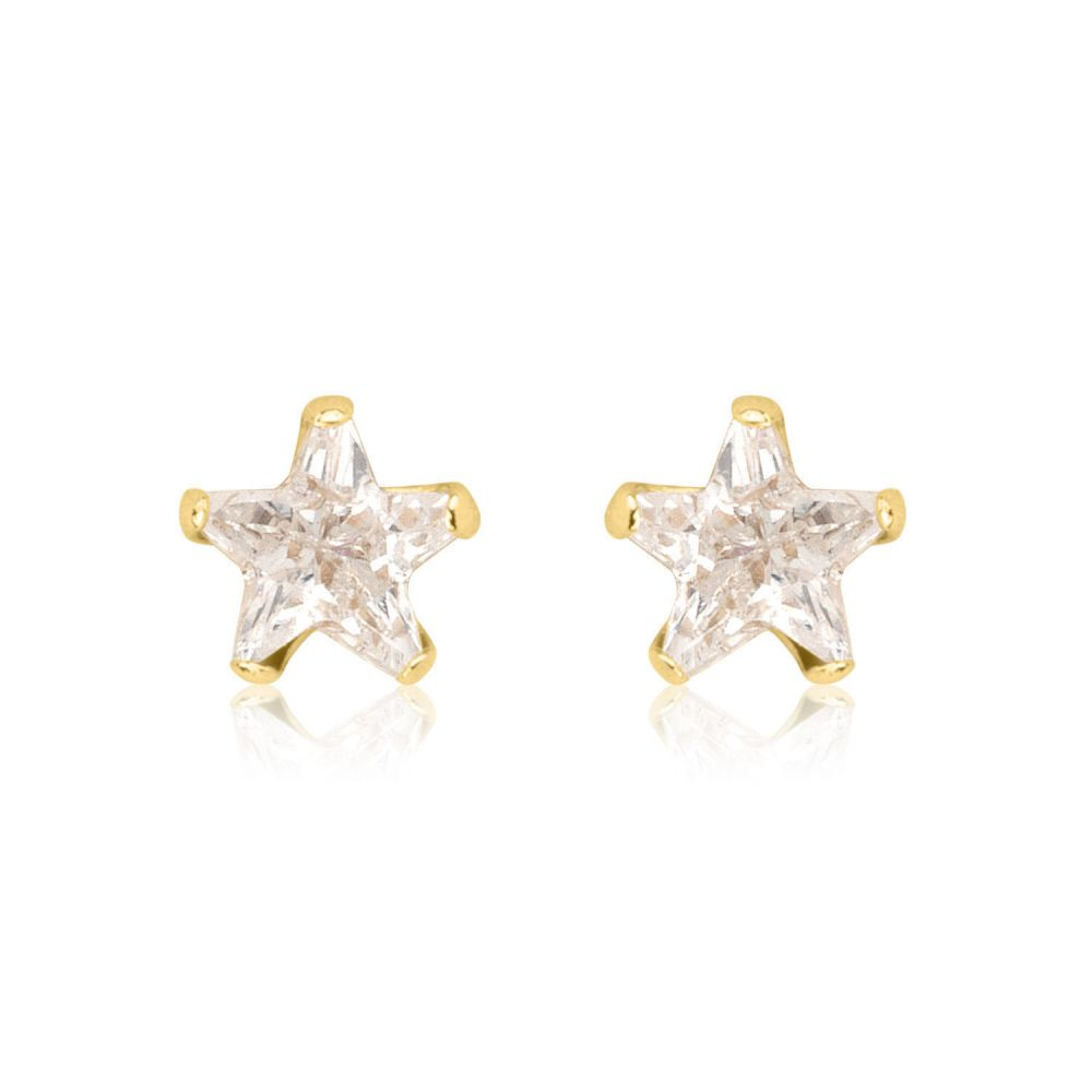 Girl's Jewelry | Gold Stud Earrings -  The North Star - Small