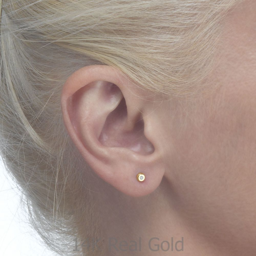 Girl's Jewelry | Gold Stud Earrings -  Circles of Splendor