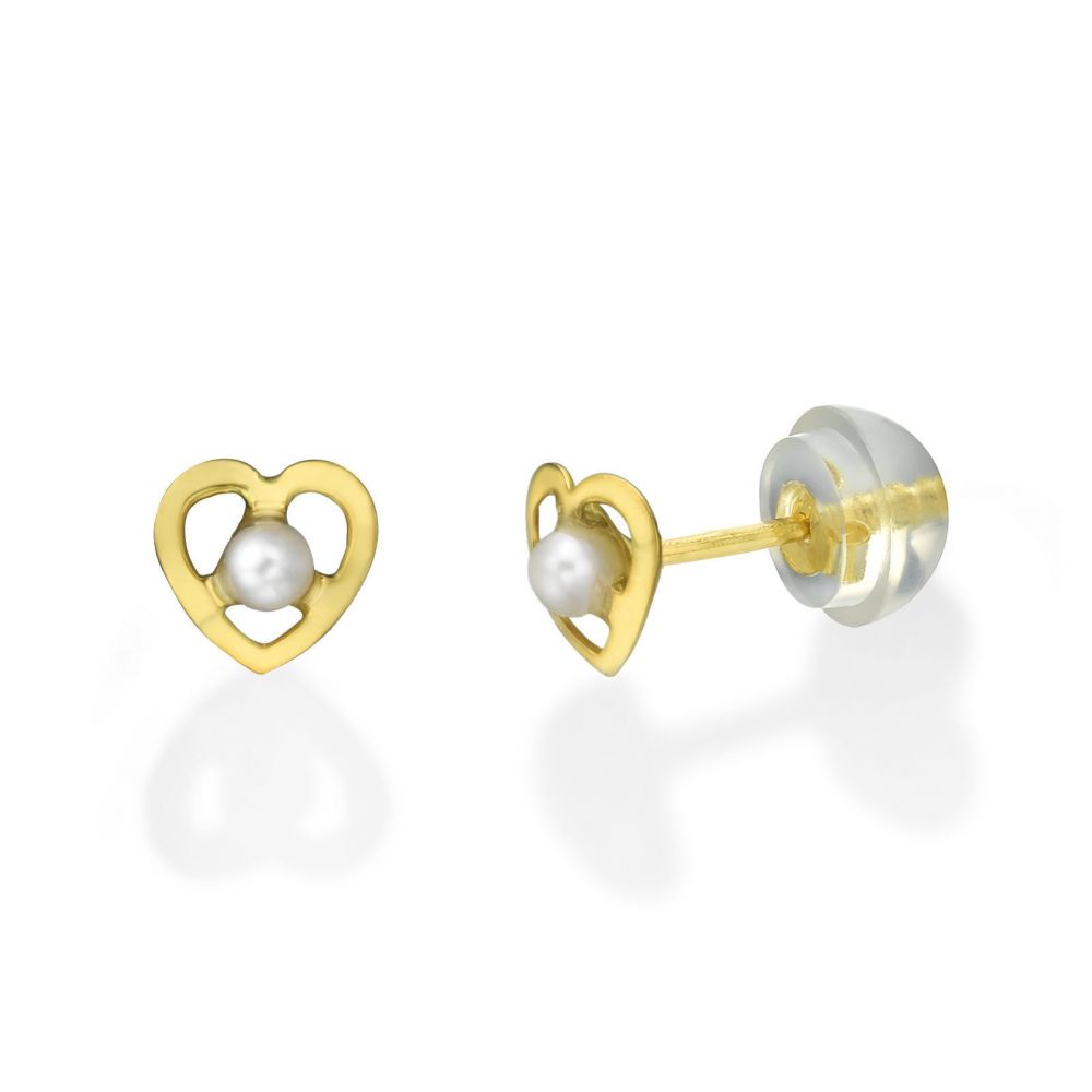 Girl's Jewelry | Gold Stud Earrings -  Chantelle Pearl