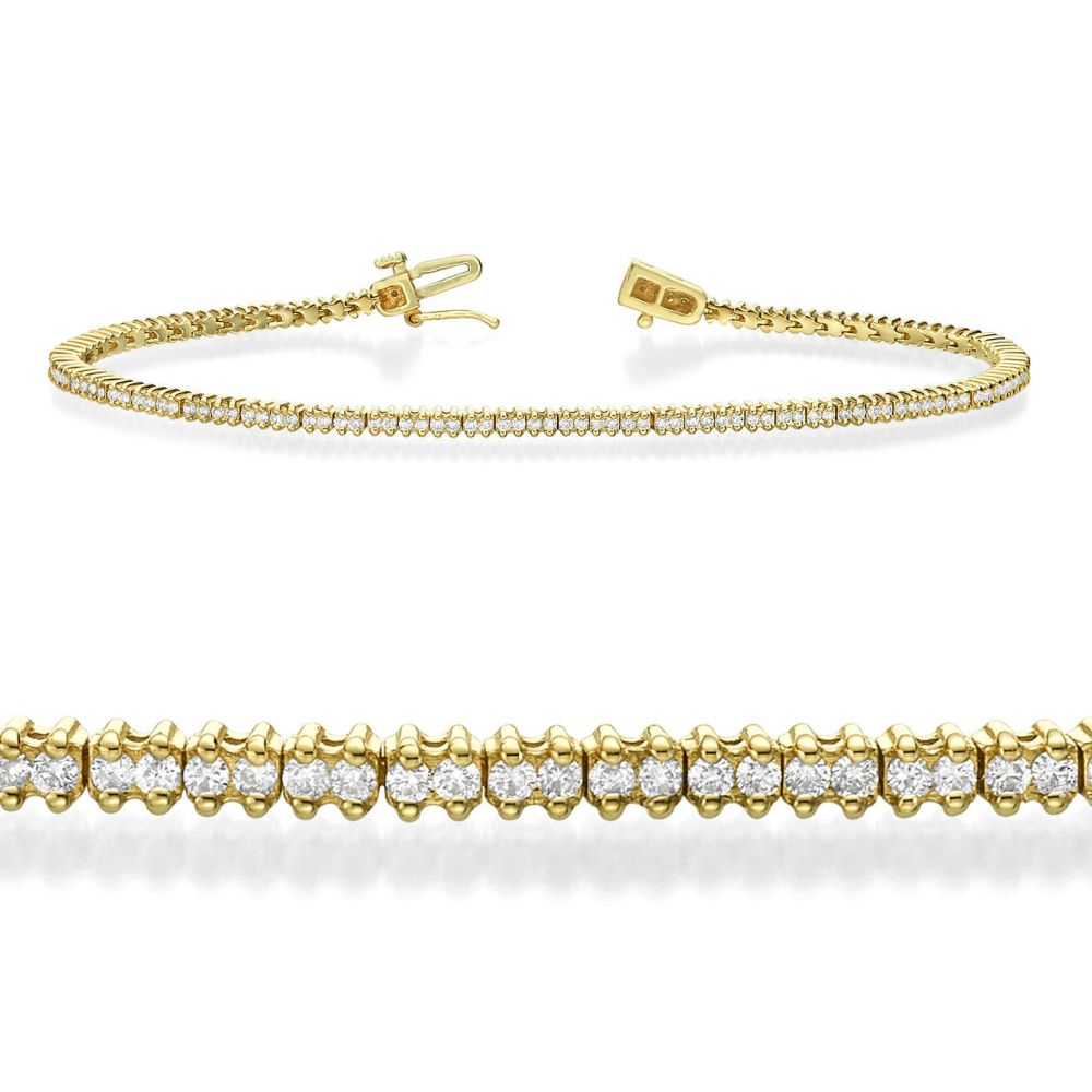 Diamond Jewelry | Diamond Tennis Bracelet in 14K Yellow Gold - Elizabeth