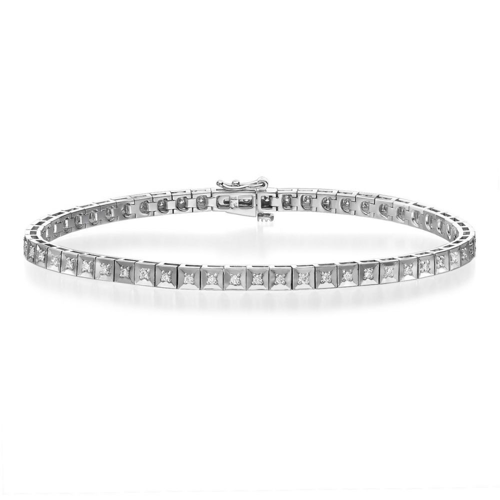 Diamond Jewelry | Diamond Tennis Bracelet in 14K White Gold - Jennifer