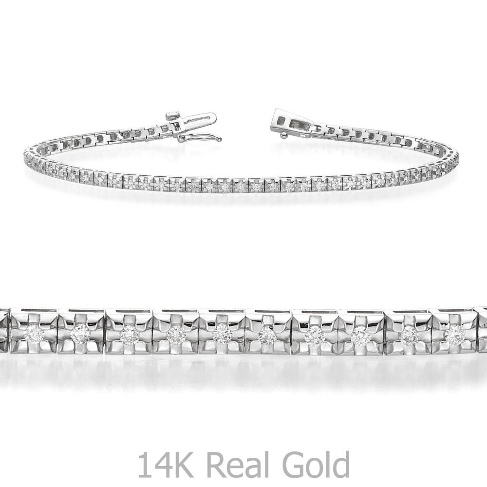 Diamond Jewelry | Diamond Tennis Bracelet in 14K White Gold - Kate