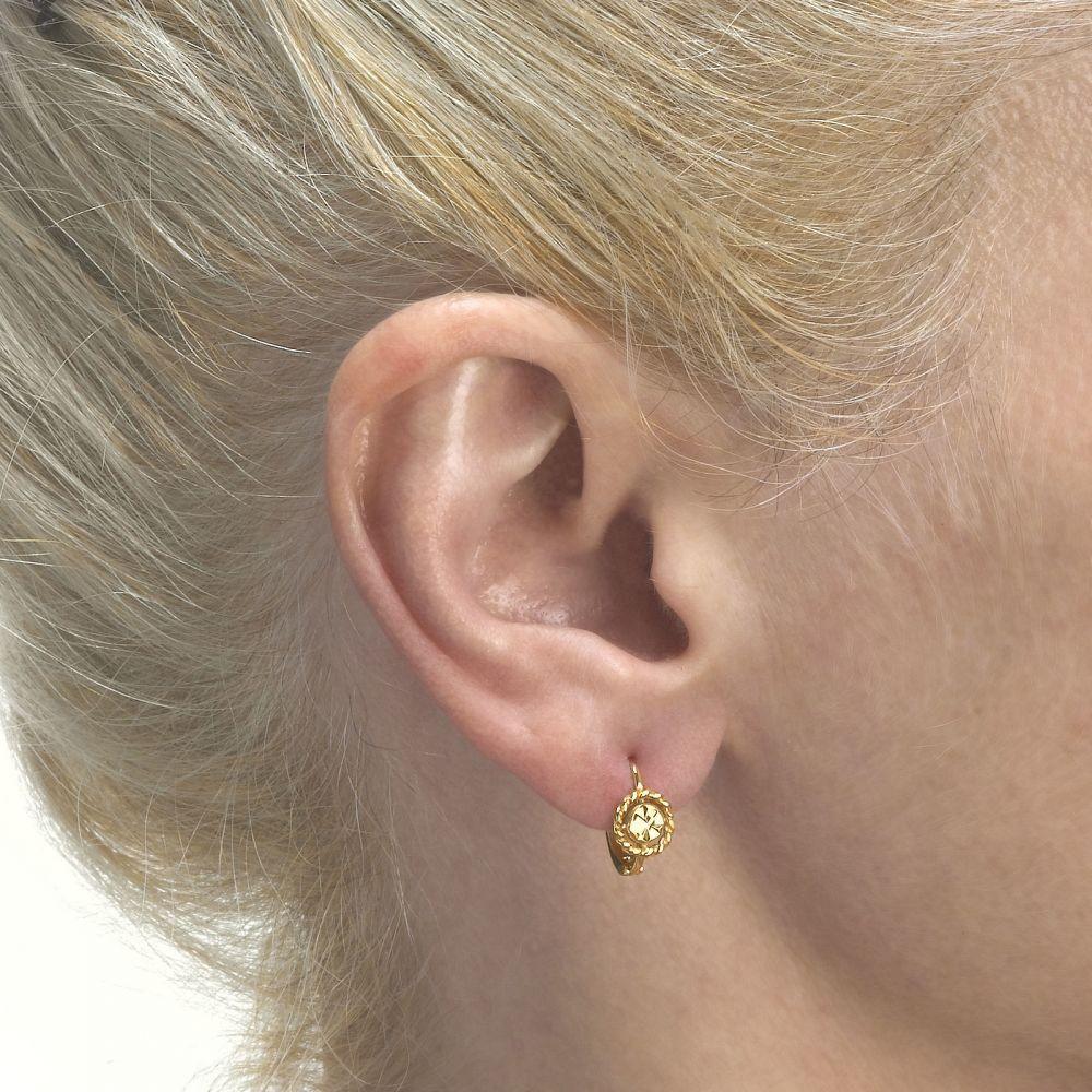Gold Earrings   Earrings - Aurora Flower