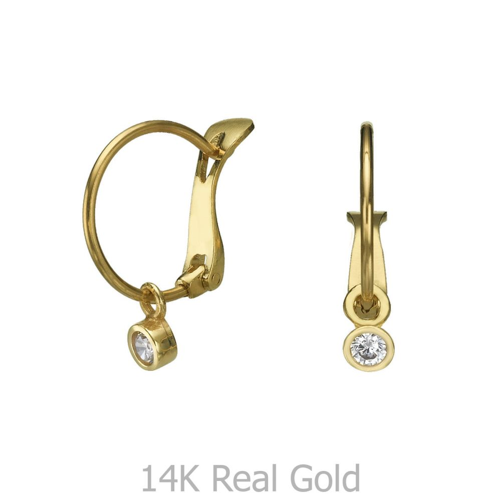Girl's Jewelry | Hoop Earrings in14K Yellow Gold - Circle of Empathy