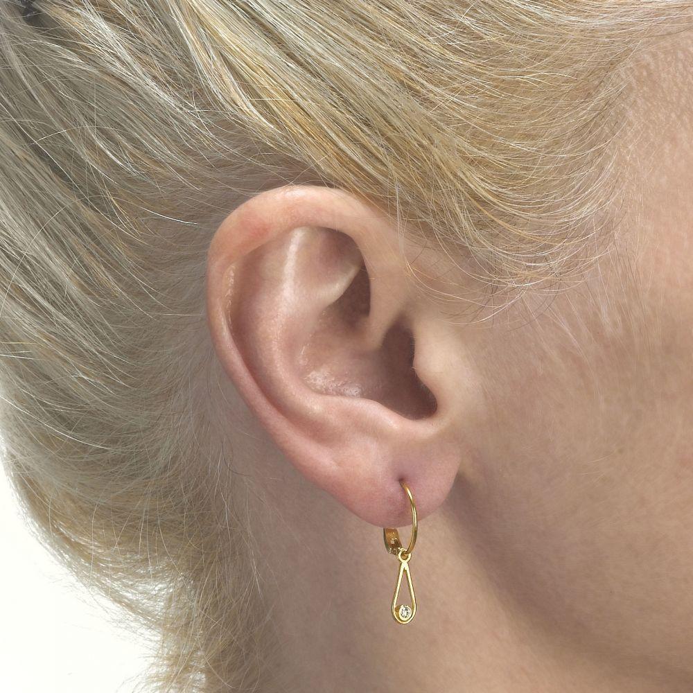 Girl's Jewelry | Hoop Earrings in14K Yellow Gold - Drop of Mittal