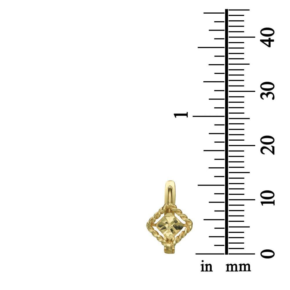 On-Work | Dangle Tight Earrings in14K Yellow Gold - Elaina Diamond