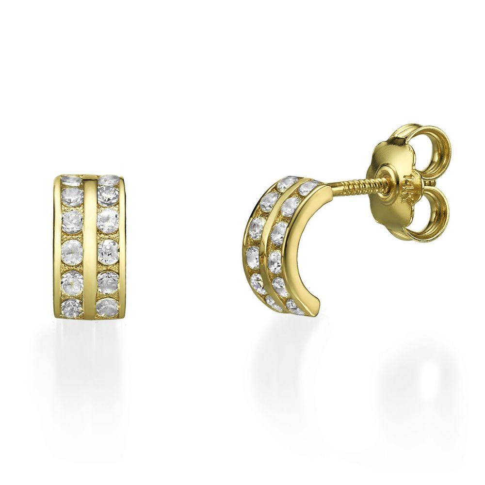 Girl's Jewelry   14K Yellow Gold Teen's Stud Earrings - Rihanna