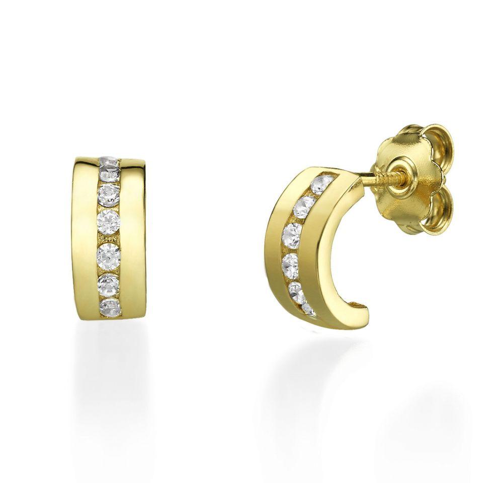 Girl's Jewelry   14K Yellow Gold Teen's Stud Earrings - Madison