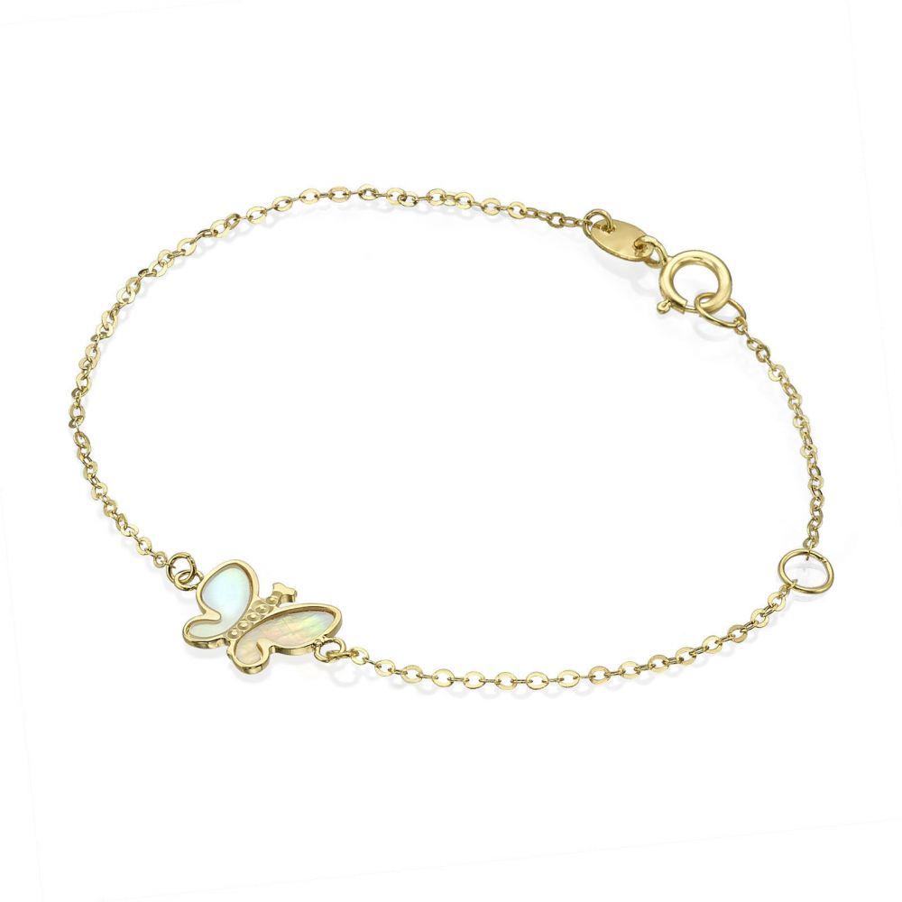 Girl's Jewelry | 14K Gold Girls' Bracelet - Magic Butterfly