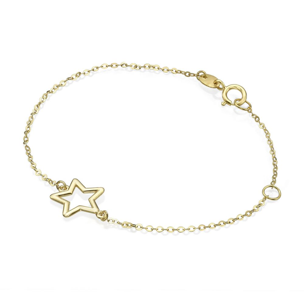 Girl's Jewelry | 14K Gold Girls' Bracelet - Shining Star
