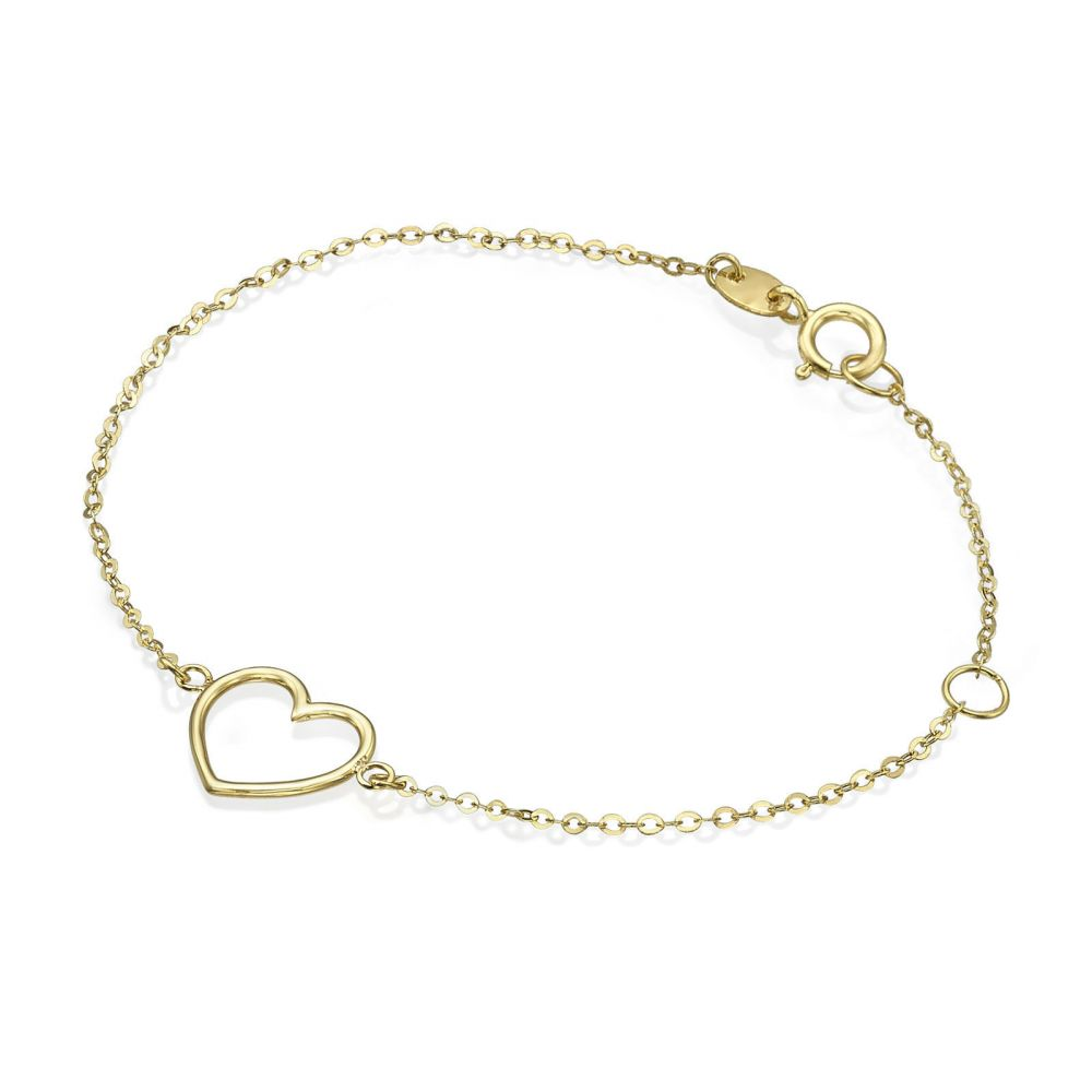 Girl's Jewelry | 14K Gold Girls' Bracelet - Shining Heart