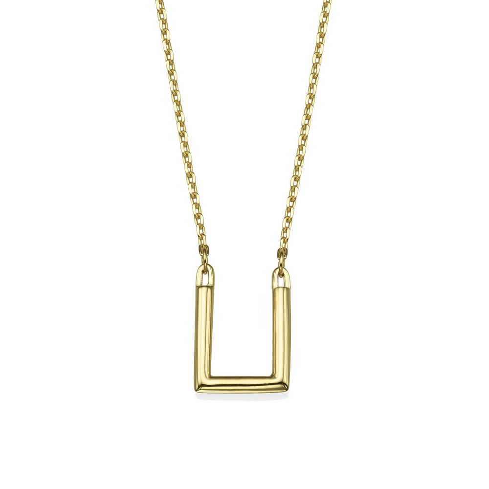 Women's Gold Jewelry | Pendant and Necklace in 14K Yellow Gold - Golden Square