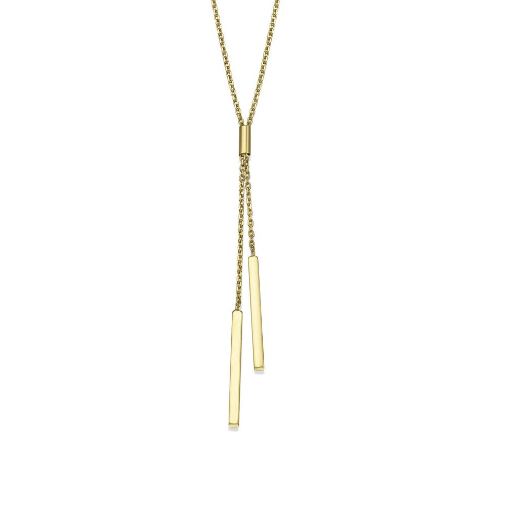 Women's Gold Jewelry | Pendant and Necklace in 14K Yellow Gold - Light Beam