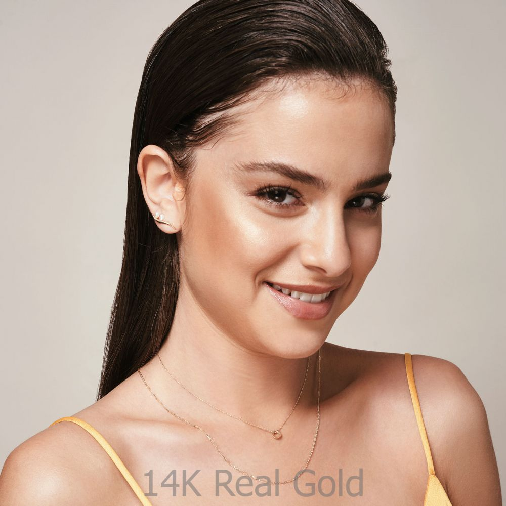 Women's Gold Jewelry | Pendant and Necklace in 14K Yellow Gold - Golden Circle