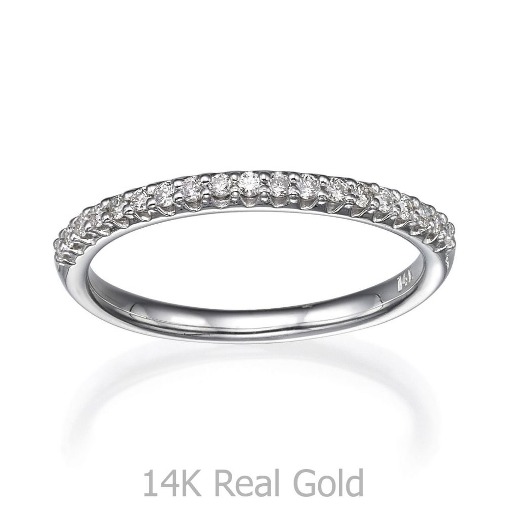 Diamond Jewelry | Diamond Band Ring in 14K White Gold - Ice Princess