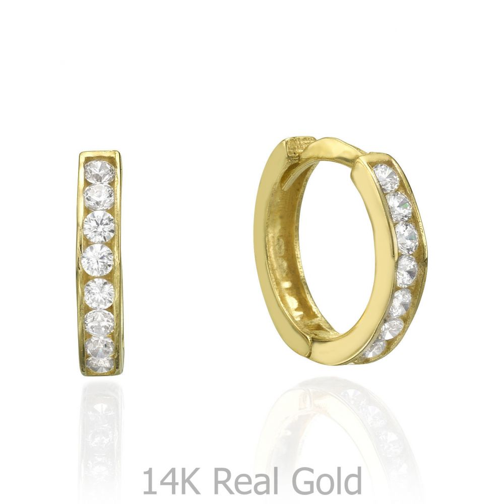 Huggie Gold Earrings Prague Youme Offers A Range Of 14k Gold