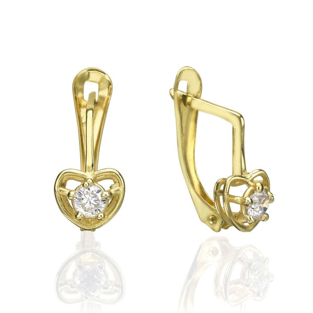 52c2cf2b9 Drop Earrings - Huge Heart. youme offers a range of 14K gold jewelry ...