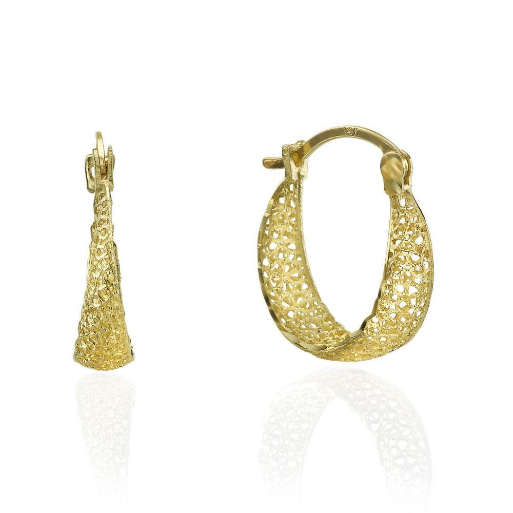 bedddb142 Gold Hoop Earrings - Hoops of Filigree. youme offers a range of 14K ...