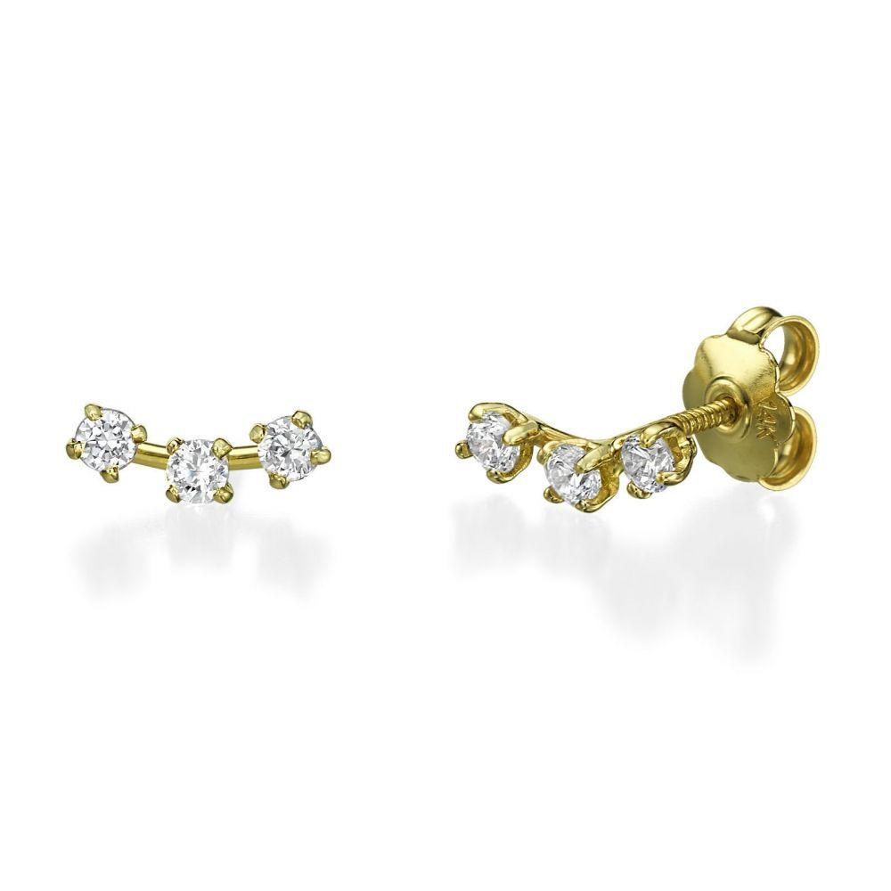 Women's Gold Jewelry | Stud Earring in Yellow Gold - Spotlights