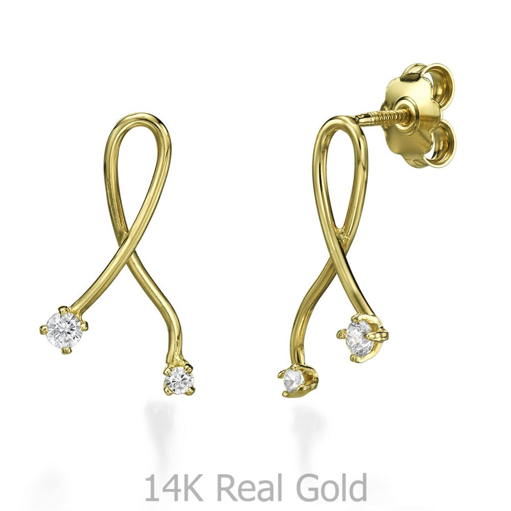 Women's Gold Jewelry | Stud Earring in Yellow Gold - Gold Connection