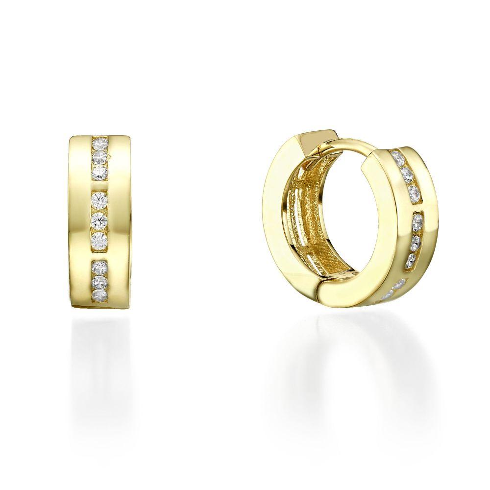86399ab0e Yellow Gold Hoop Earrings Kansas Youme Offers A Range Of 14k
