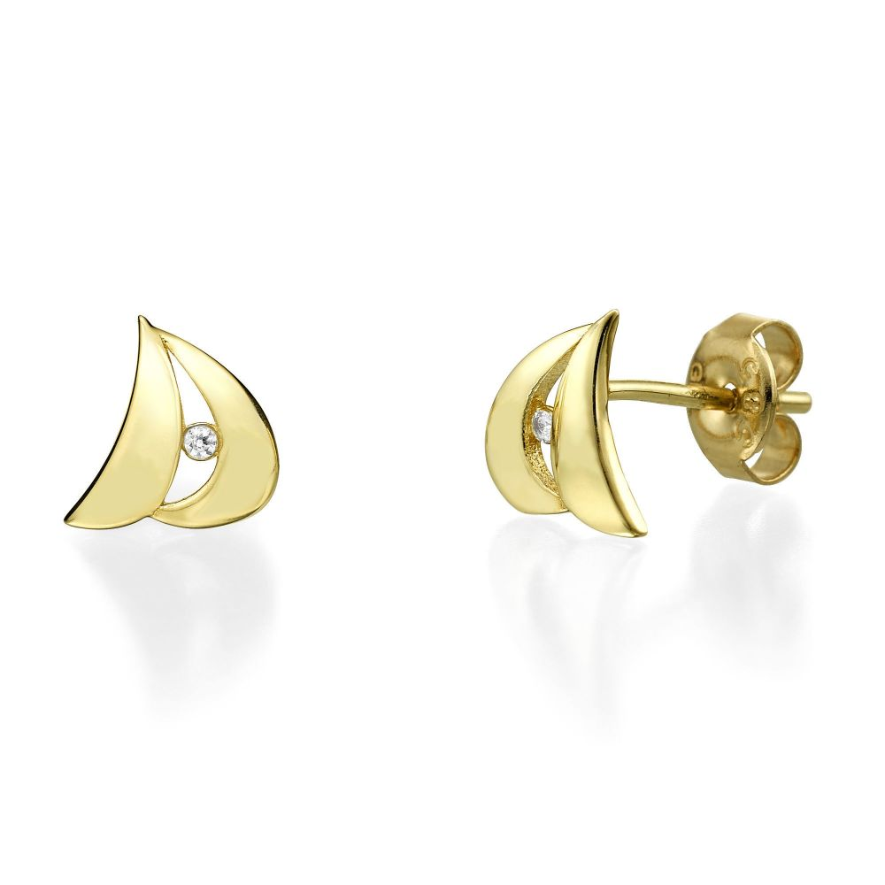 057586f8359f0 Yellow Gold Stud Earrings - Sidney