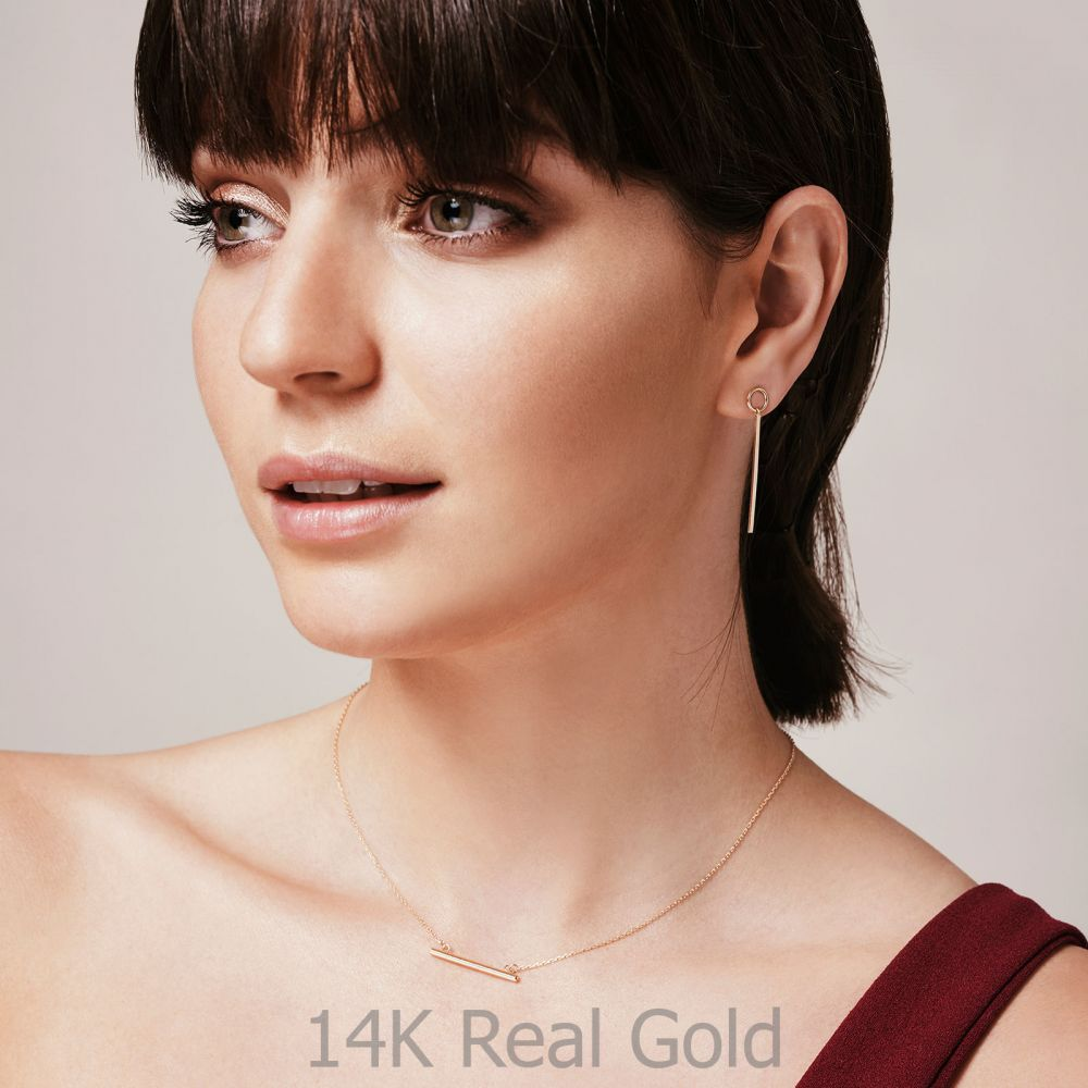 Women's Gold Jewelry | 14K Yellow Gold Women's Earrings - Pendulum