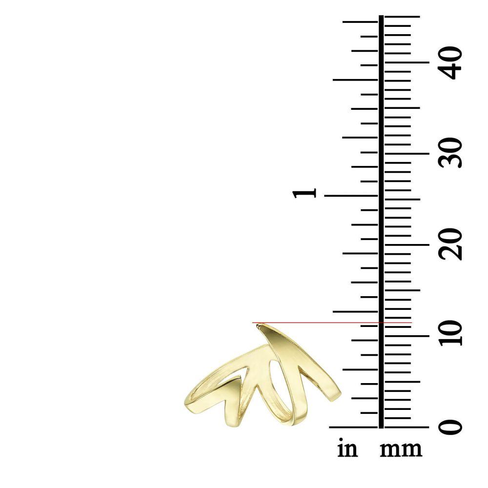 Women's Gold Jewelry | Stud Earrings in 14K Yellow Gold - Flame & Fire